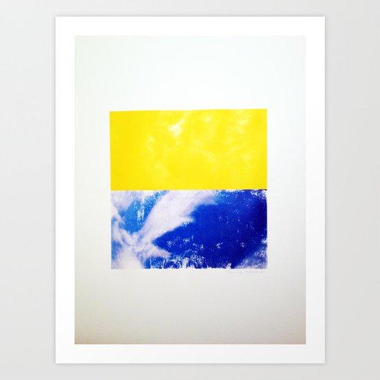 SKY/YLO Art Print