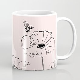 Poppies & Honeybees Coffee Mug