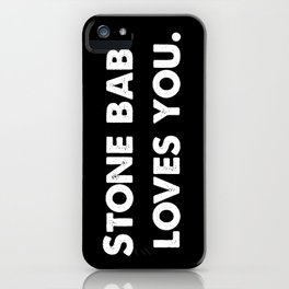 Stone Baby Loves You iPhone Case