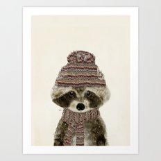 little indy raccoon Art Print