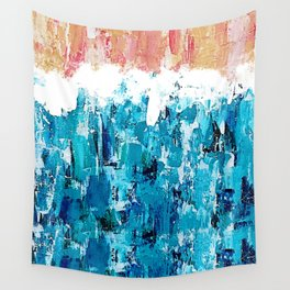 Crashing Waves on the Shore Wall Tapestry