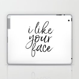 PRINTABLE ART Love Sign I Like Your Face Valentines Day Decor Gift For Her Romantic Gifts For Him En Laptop & iPad Skin