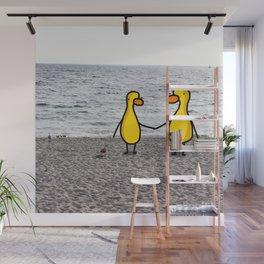 Lovebirds on the Beach Wall Mural