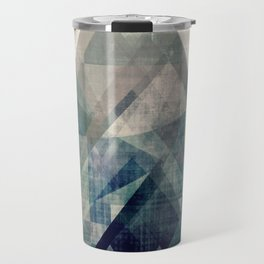 Mountains print, Abstract print, geometric wall art, abstract mountain, minimalist art, modern art, Travel Mug