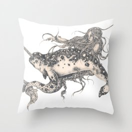 Ida & The Narwhal Throw Pillow