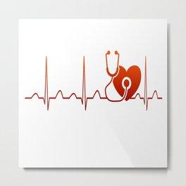 DOCTOR HEARTBEAT Metal Print
