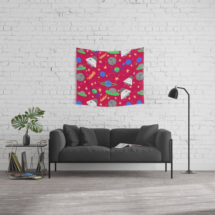 Space Ships Wall Tapestry