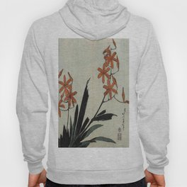 Hokusai, red orchid -manga, japan,hokusai,japanese,北斎,ミュージシャン Hoody