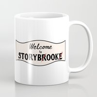 ouat Mugs featuring OUAT | Welcome to Storybrooke sign by CLM Design