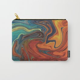 Swirling Pattern (Orange, Blue, Red) Carry-All Pouch