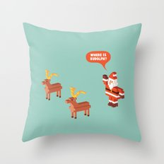 Where is Rudolph? Throw Pillow