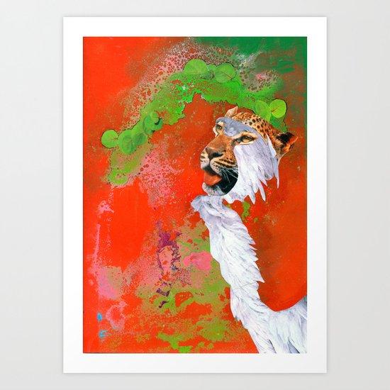 BEAST BRAVERY Art Print