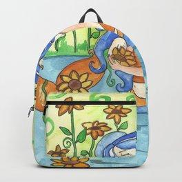 Sunflower Mermaid Backpack