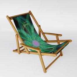 Neon Mandala Flower Sling Chair