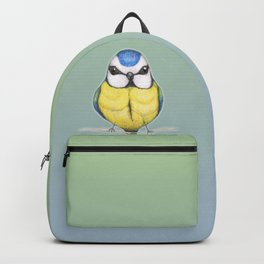Cute woolly blue tit Backpack