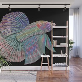 A Beautiful Betta Fish Wall Mural