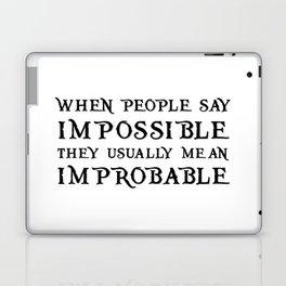 Improbable - Nikolai WHITE Laptop & iPad Skin