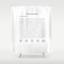 Psychoanalysis Word Search Shower Curtain