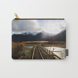 Railway over Waimakariri River Carry-All Pouch