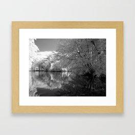 Across the Lake Framed Art Print