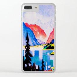 Davos Switzerland - Vintage Travel Clear iPhone Case