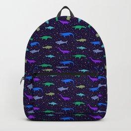 Underwater Dinosaurs (Dark Blue) Backpack