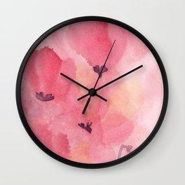 Cyclamen dreams Wall Clock
