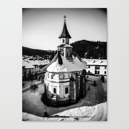 The Katholikon at Putna Monastery, Romania Canvas Print