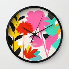 peony 1 Wall Clock