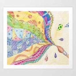 The Painted Quilt Art Print