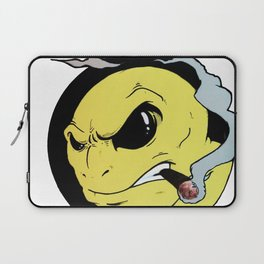 Angry Smiley Laptop Sleeve