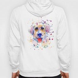 White labrador puppy portrait Hoody