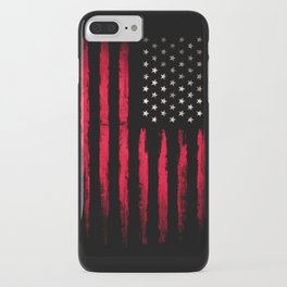 American flag Vintage Black iPhone Case