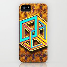 DIFORCE #3 Impossible Triangle Psychedelic Optical Illusion iPhone Case