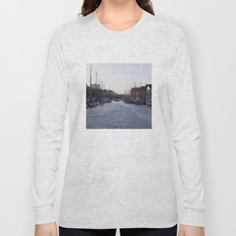 Copenhagen Christianshavn canal view Long Sleeve T-shirt