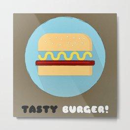 Tasty Burger Metal Print