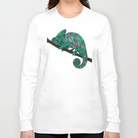 chameleon Long Sleeve T-shirts featuring Chameleon by Ben Geiger