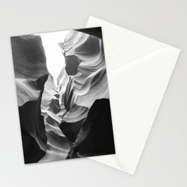 ANTELOPE CANYON (B+W) Stationery Cards