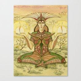 Sage in the desert Canvas Print