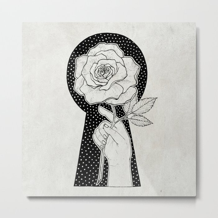 The Rose and the Key Metal Print