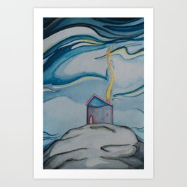 Cozy Rock Home Art Print