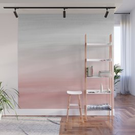 Touching Blush Gray Watercolor Abstract #1 #painting #decor #art #society6 Wall Mural