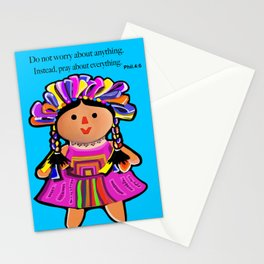 Phil.4:6 Do Not Worry Doll Stationery Cards