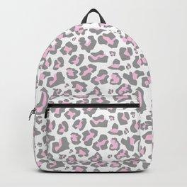 Pastel pink gray vector modern cheetah animal print Backpack