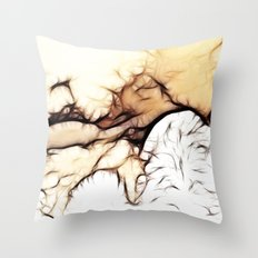 Snowstorms and Treetops Throw Pillow