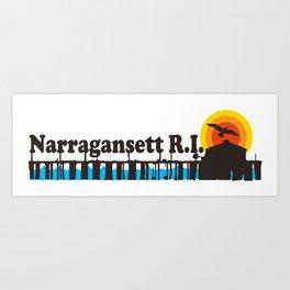 Narragansett - Rhode Island. Art Print