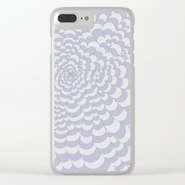 Snake Spider Blue and White Striped Clear iPhone Case