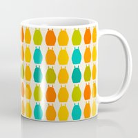 calcifer Mugs featuring my neighbor pattern by ururuty