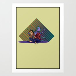 Octopus Man Art Print