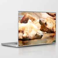 bears Laptop & iPad Skins featuring Bears by Sylvia C